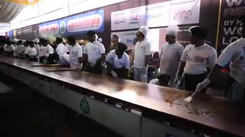 100-ft grand dosa prepared by 50 chefs in Chennai