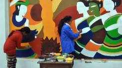 Kanpur college students convert roadside wall into an art gallery