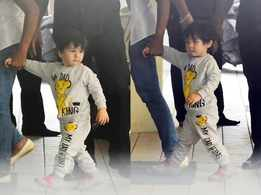 Aww! Taimur captured in a cool tracksuit