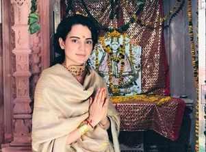 Photo: Kangana at a temple in Himachal