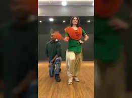 Zareen Khan shared a fun moment with choreographer Melvin Louis