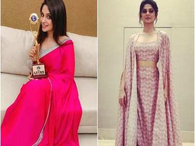 TV celebs look glamorous at an award function