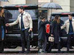 Priyanka Chopra and Nick Jonas walk hand-in-hand as they arrive in Los Angeles