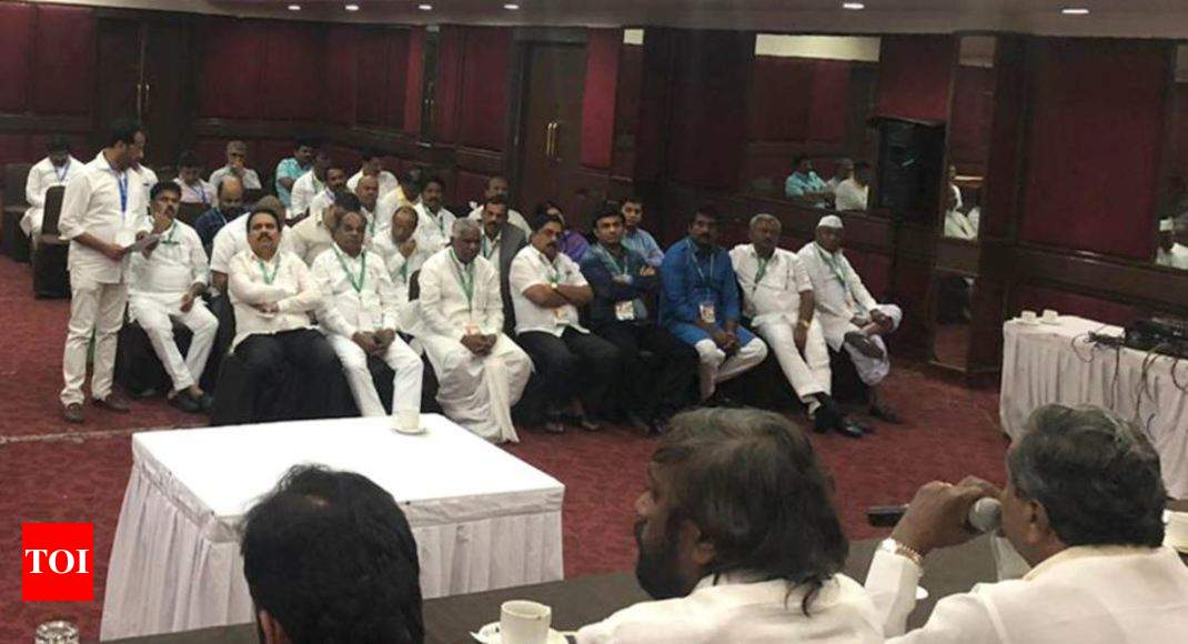 4 rebel Karnataka Congress MLAs 'almost certain' to join BJP - Times of India