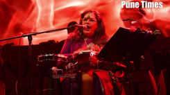 Usha Uthup singing Shanase at an event in Pune