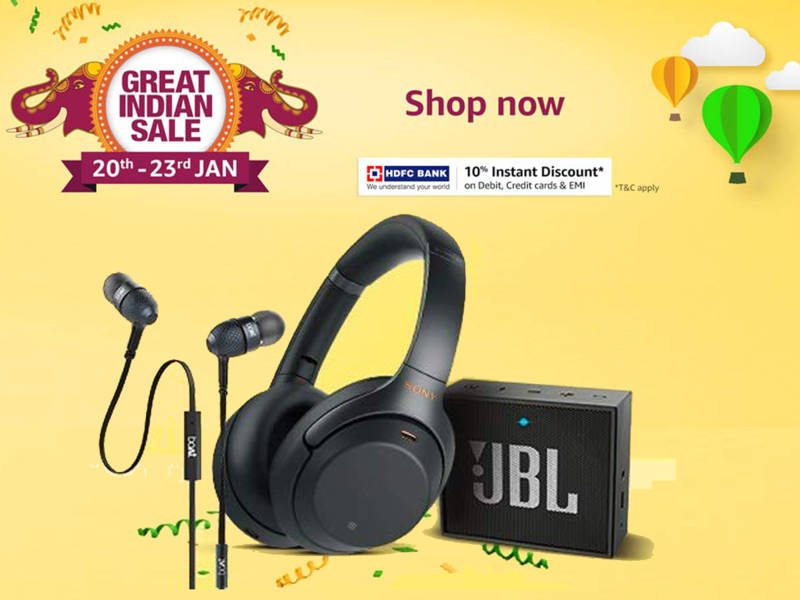 6deae8a6227 Amazon Great Indian sale day 2: Headphones, speakers and earphones  available under Rs 500