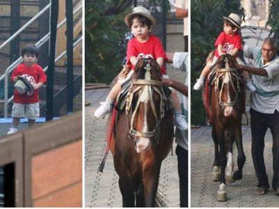 Taimur Ali Khan enjoys horse-riding
