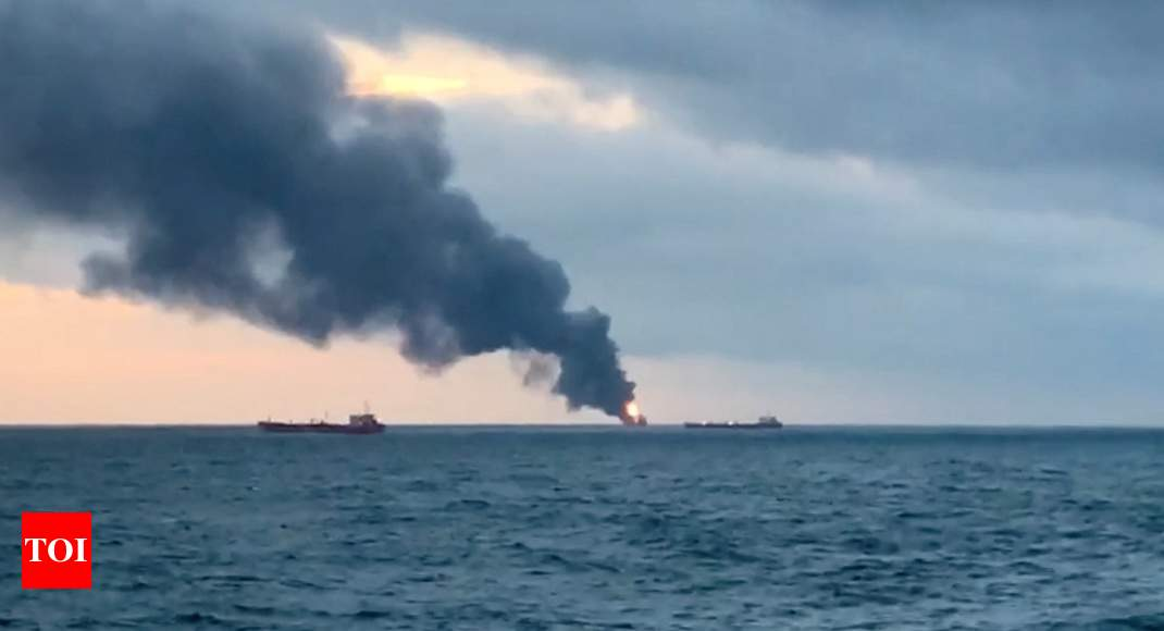 14 dead as ships with Indian, Turkish crew members catch fire off Russia - Times of India