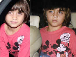 Watch: Shah Rukh Khan's son AbRam Khan is at his cutest best as he attends a birthday party