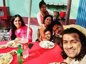Rudrajit, Promita and Madhubani enjoy a lunch date