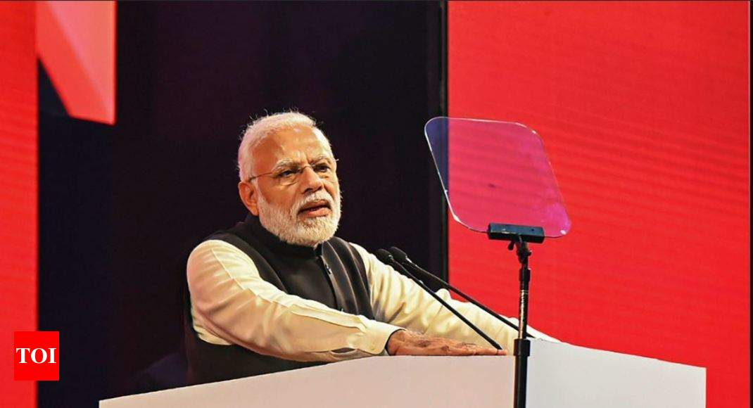 PM Modi targets Congress at NRI meet, says BJP govt stopped loot - Times of India