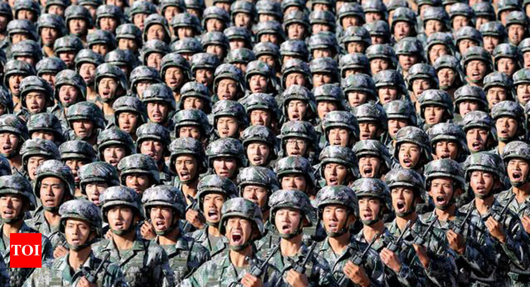China reduces army by half, increases size of navy and air force in big way - Times of India