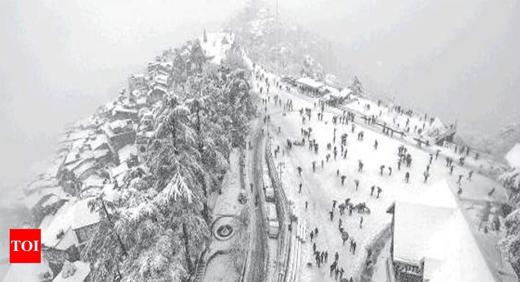 Heavy snowfall, rains freeze Himachal - Times of India