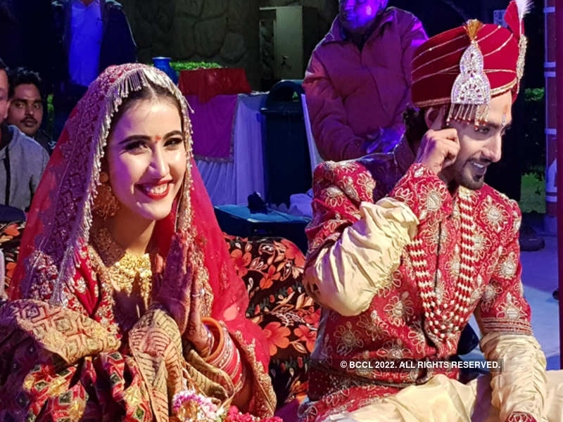 Rohit Purohit And Sheena Bajaj Are Officially Husband And Wife Check Out The Pictures Times Of India