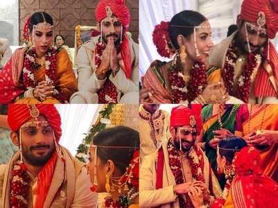 Pics: Prateik Babbar weds Sanya Sagar