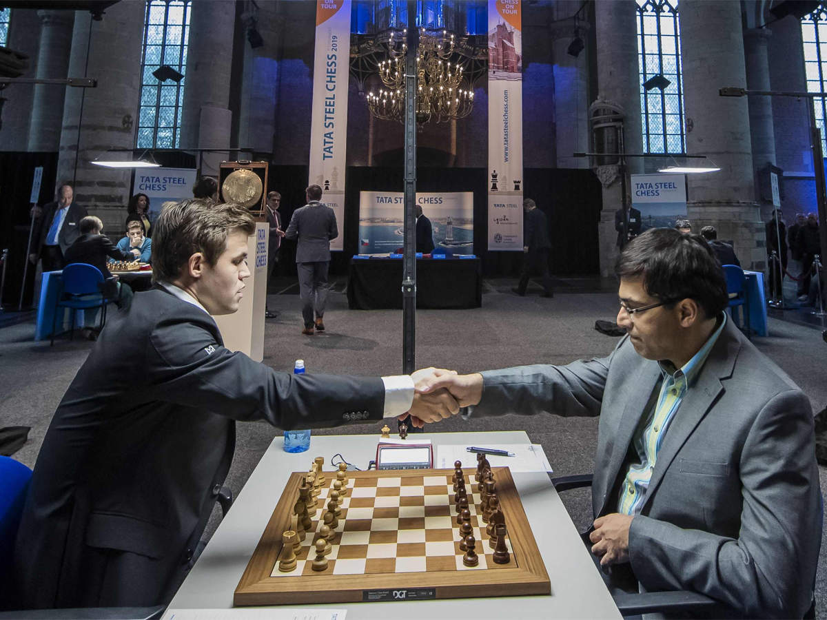 Tata Steel Chess Viswanathan Anand Loses To Magnus Carlsen In 10th Round Chess News Times Of India