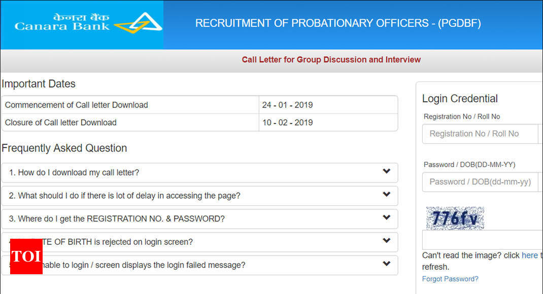 state bank of india po admit card 2019