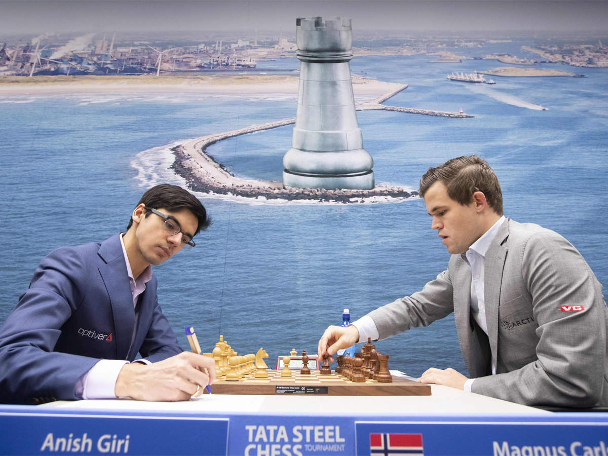 Magnus Carlsen Wins Tata Steel Chess Viswanathan Anand Ends Third Chess News Times Of India