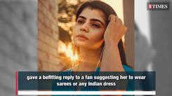 Chinmayi Sripada hits back at a fan suggesting her to wear saree