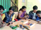 Youngsters indulged in candle making session