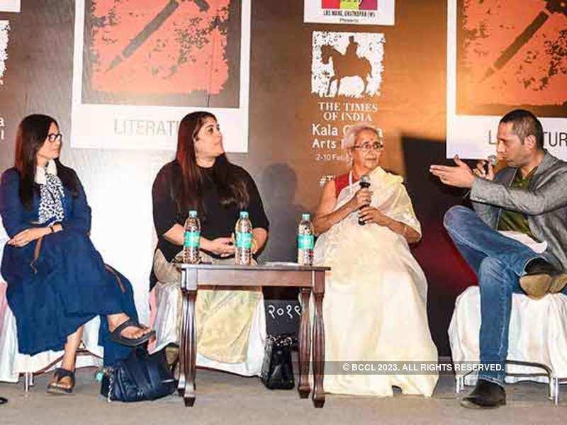 (L-R) Maria Goretti, Tara Deshpande, Komala Sista Rao and chef Adita Bal in a discussion at the book launch