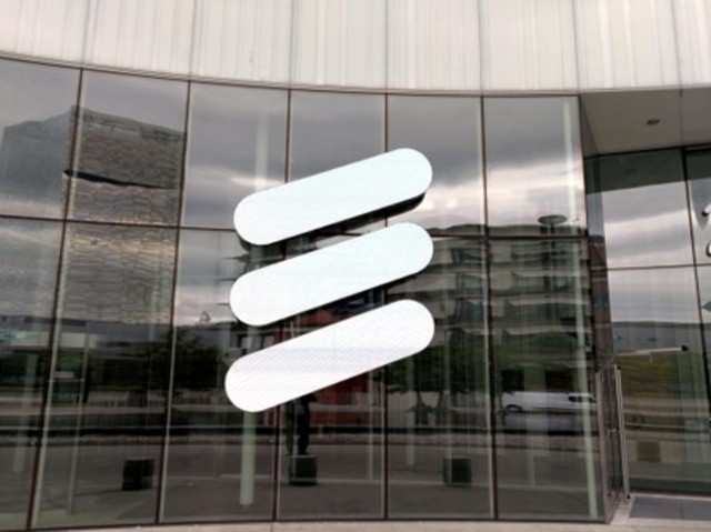 The Ericsson logo is seen at the Ericsson's headquarters in Stockholm, Sweden June 14, 2018. REUTERS/Olof Swahnberg/File Photo