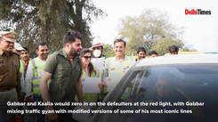 Gurugrammers breaking traffic rules get schooled by Sholay's Gabbar, Kaalia