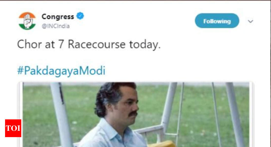 Bjp Takes A Dig At Congress For Copying The Pablo Escobar