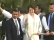 Priyanka Gandhi Vadra starts first roadshow in Lucknow, accompanied by Rahul Gandhi