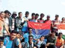 Trekking aficionados from Aurangabad trek to Fort Rajgad