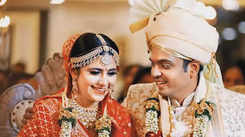 TV couple Palak Jain and Tapasvi Mehta at their wedding in Indore