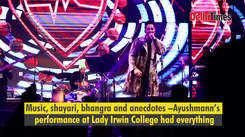 Ayushmann Khurrana rocks his debut DU performance