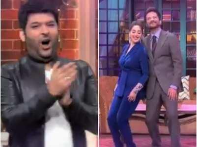 Anil, Madhuri recreate 'Dhak Dhak' on TKSS