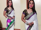 Picture: Bhojpuri actress Rani Chatterjee poses in a saree