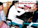 Students make the most of health check-up drive