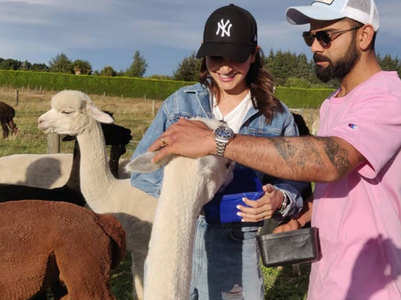 Pics: Anushka-Virat's day out with Alpacas