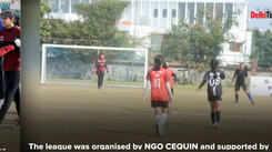 Delhi girls face off in football match