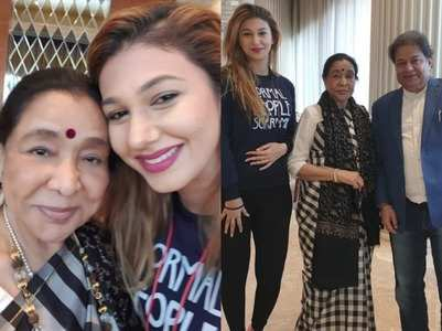 Jasleen's fangirl moment with Asha Bhosale
