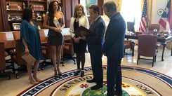 Valeria receives official credits from the President