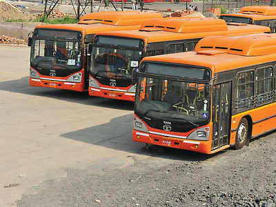 GPS tracking can't take Delhi's orange cluster buses off