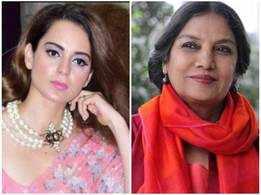 Shabana Azmi reacts to Kangana's statement