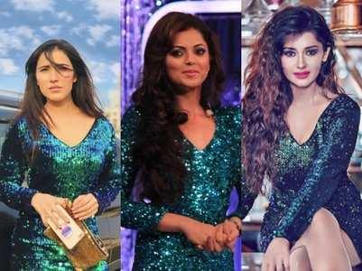 Drashti, Kanchi, Sheena sport same dress