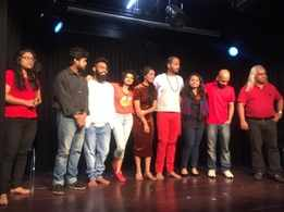 Young theatre workers try their hands at improvised drama