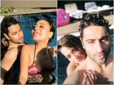 Sara spends a cozy pool date with Ankit