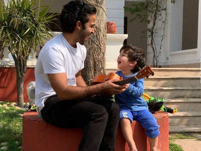 Watch: Taimur Ali Khan strumming the ukulele