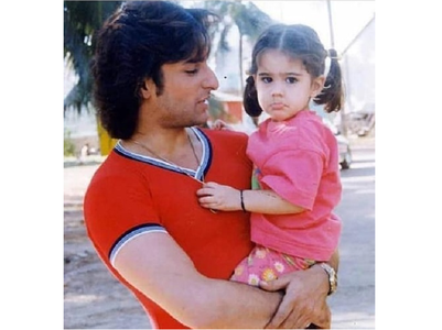 Throwback: Pic of Sara with Saif goes viral