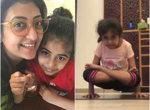 Juhi's daughter does yoga asanas like a pro