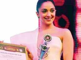 Kiara Advani receives the 'Emerging Star Of The Year' award