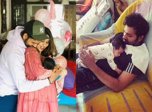 Rohit Sharma bonds with his daughter