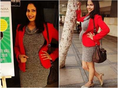 Heavily pregnant Chhavi steps out in style